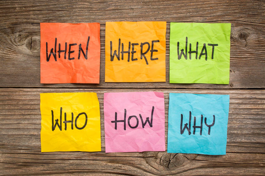 Who, What, Where, When, Why, and How?